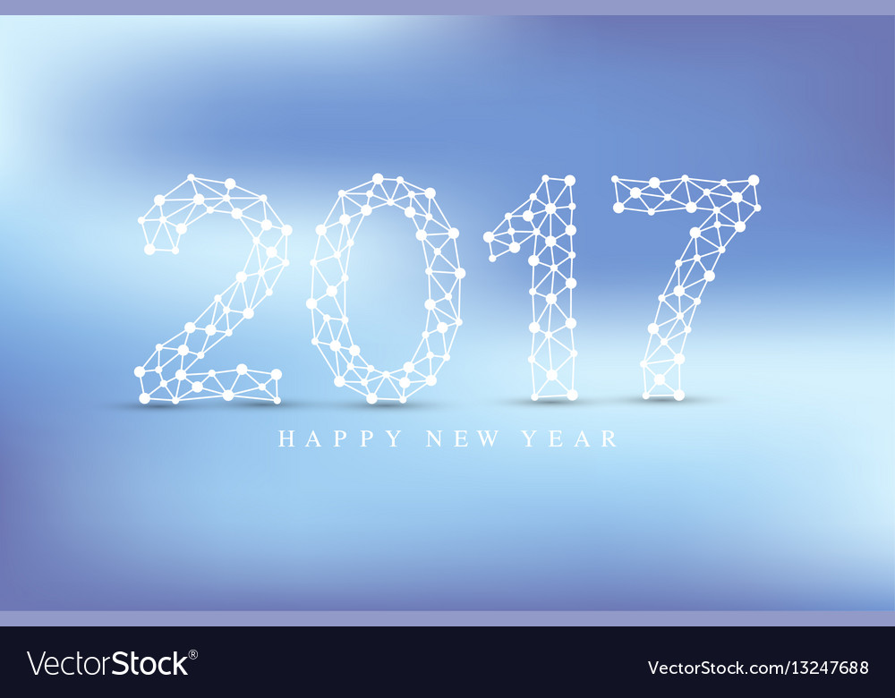 Text design christmas and happy new year 2017 vector