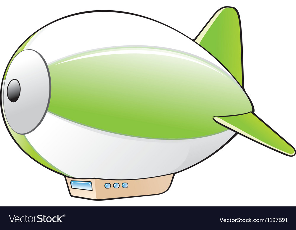 Cartoon zeppelin vector