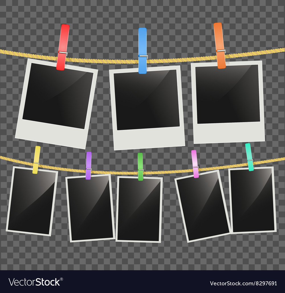 Photo empty frames vector