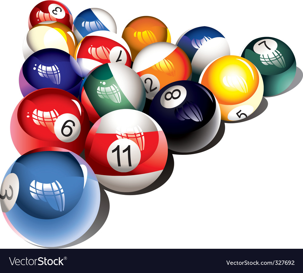 Billiard balls vector