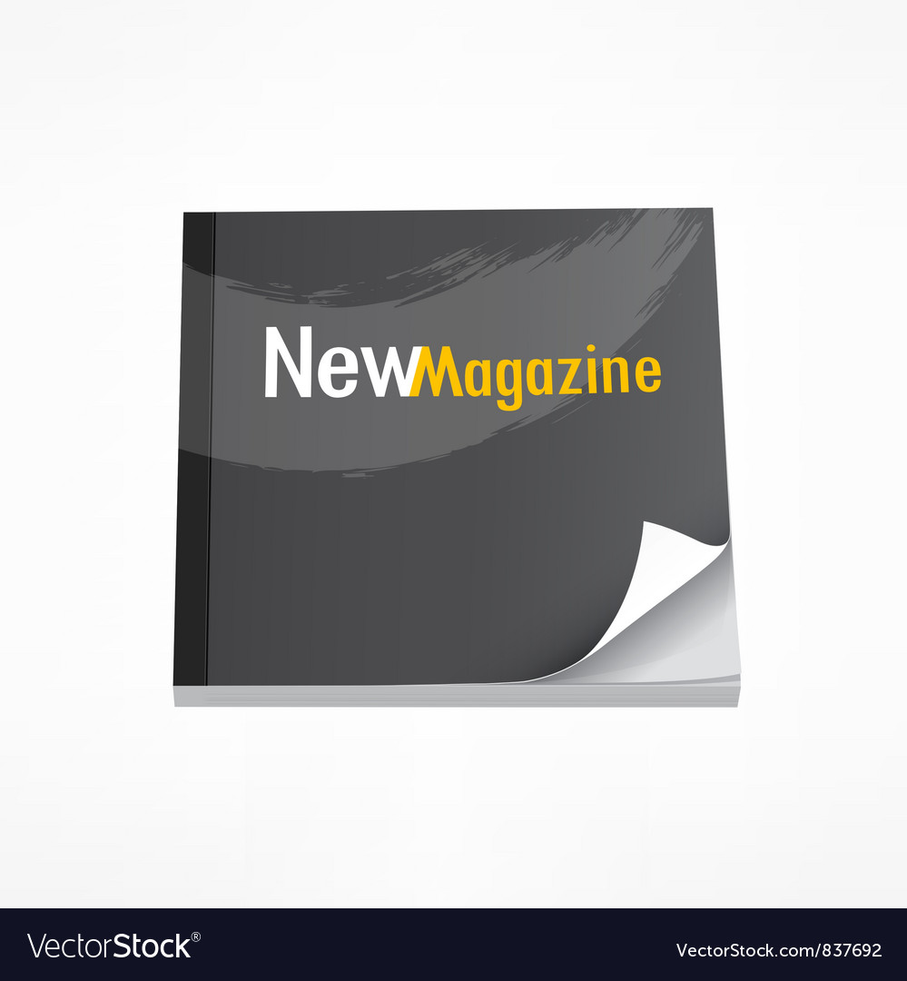 New magazine blank page template vector