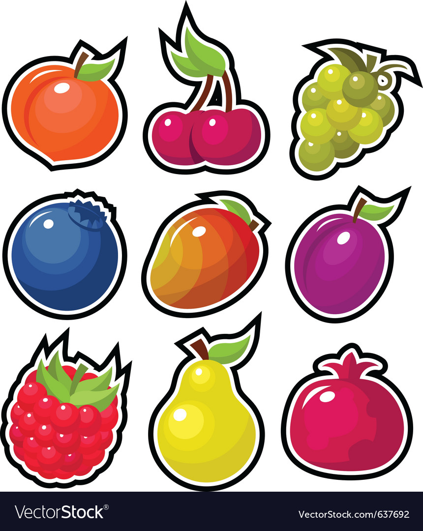 Yummy fruits vector