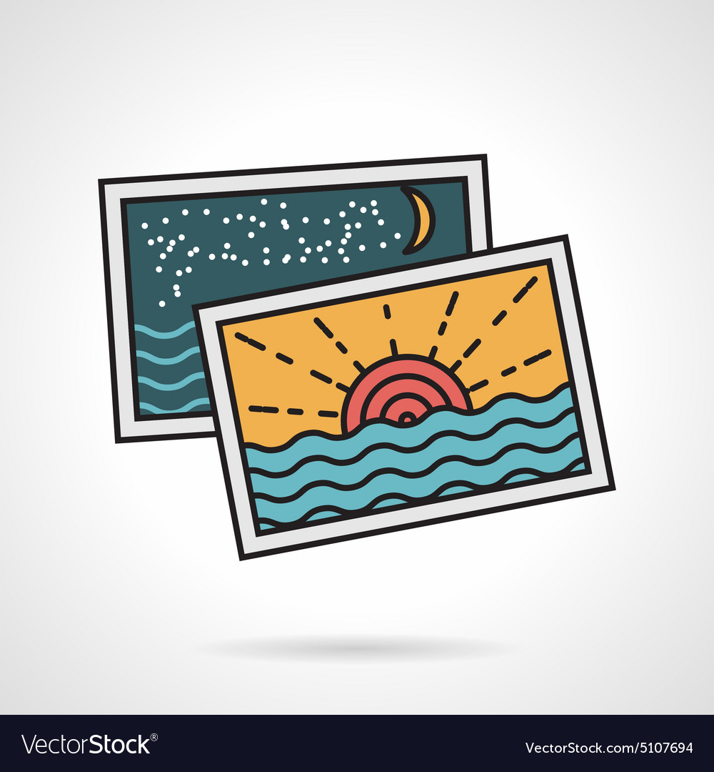 Flat style icon for vacations memories vector
