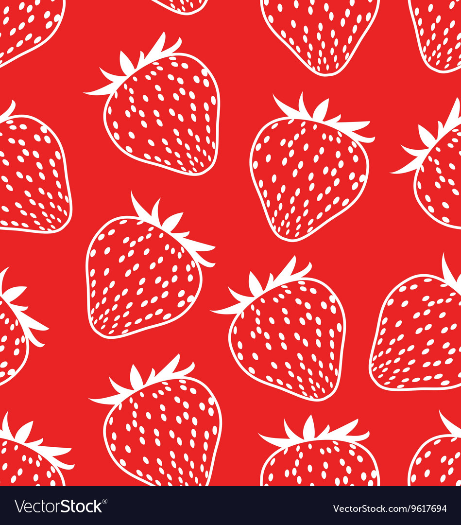 Seamless background with strawberries vector