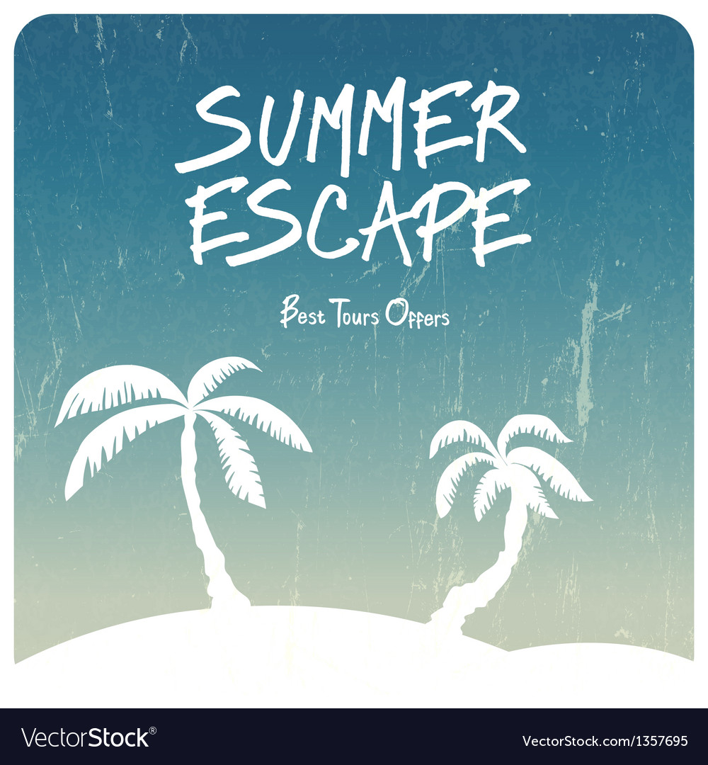 Summer travel concept vector