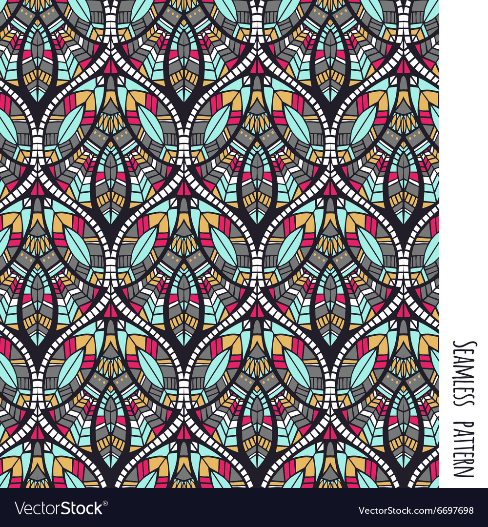 Ethnic aztec pattern vector
