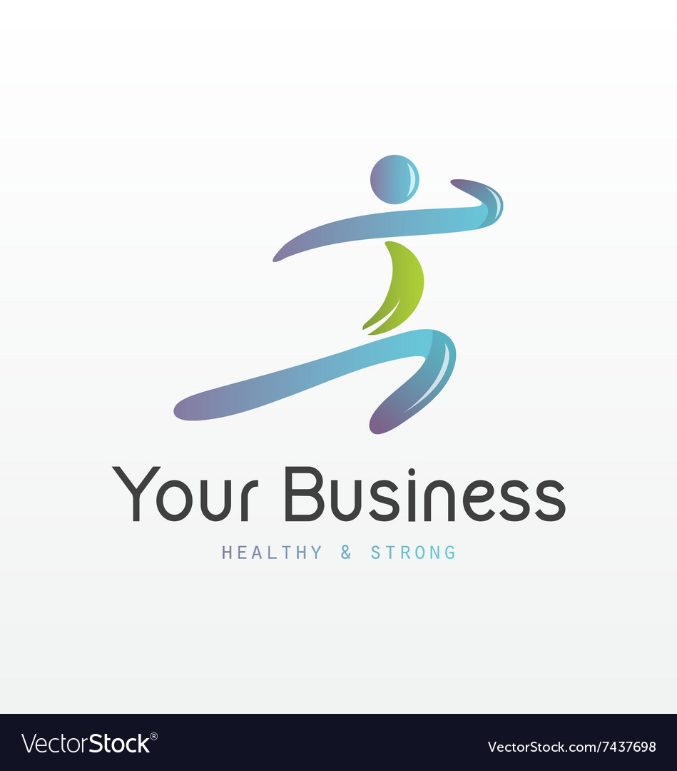 Healthy and strong logo vector
