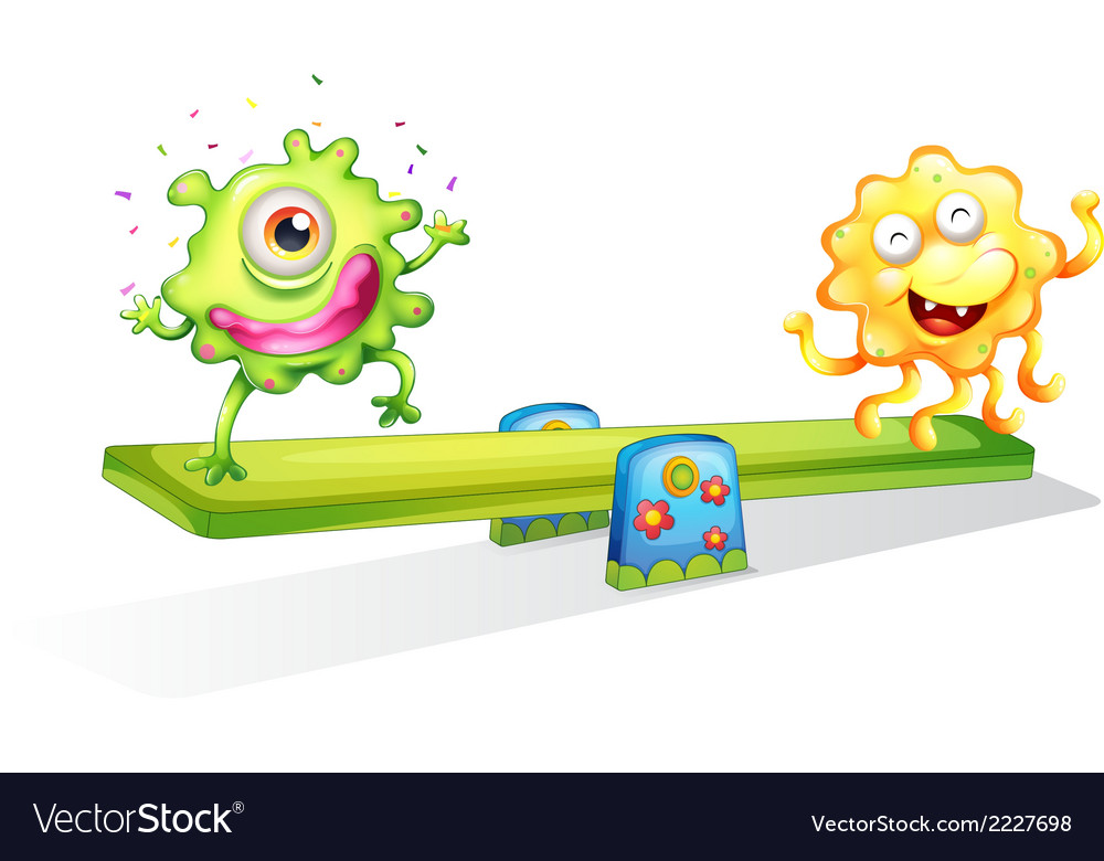 Two monsters playing vector