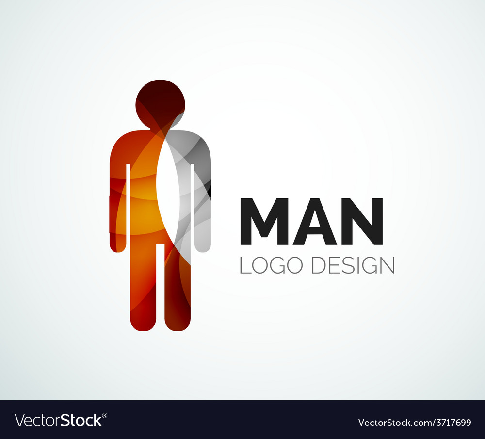 Abstract logo  man icon vector