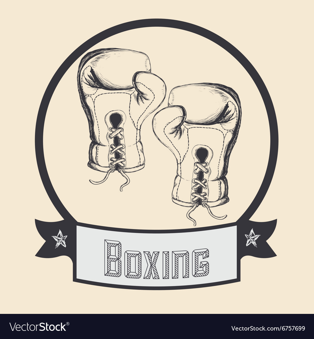 Boxing sport design vector