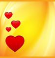Hearts over orange vector image vector image