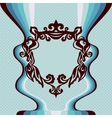 Template label florish frame vector image