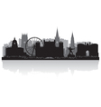 Nottingham city skyline silhouette vector image vector image