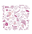 Valentine Cute Elements vector image vector image