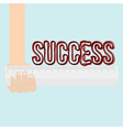 Measure of success conceptual using ruler vector image
