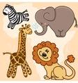 Cute cartoon Baby African Animals set vector image