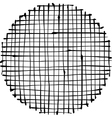 Circular liquid black stripe grid pattern on white vector image