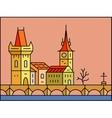 Prague cityscape icon vector image vector image