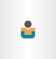 child sitting icon design vector image