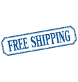 free shipping square blue grunge vintage isolated vector image