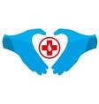 Blood Donation Emblem Template vector image