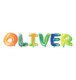 male name oliver text balloons vector image