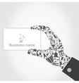 Music hand6 vector image