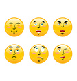 Set of emoticons on white background Cartoon vector image