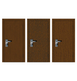 Wooden doors with different texture vector image