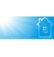 new house silhouette on sky background vector image vector image