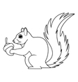 Black and white squirrel design vector image