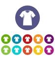 Men tennis t-shirt set icons vector image