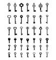 silhouettes of door keys vector image