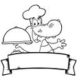 Seafood restaurant cartoon logo vector image vector image