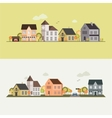 Country side house field vector image