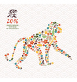 2016 chinese new year monkey china icon ape vector image
