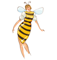 Carnival costumes bee vector image vector image