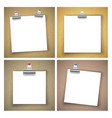 cardboard with paper sheet background vector image