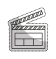 clapper board isolated icon vector image
