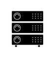 computer servers icon black vector image