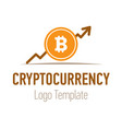 crypto currency or bitcoin logo design flat trend vector image
