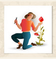 gardener with garden shears vector image