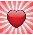 heart on retro background vector image