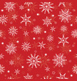holiday red hand drawn christmass vector image