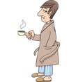 man with coffee vector image