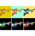 musical background with guitar player vector image