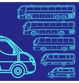 set of different bus vector image