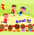 soccer player scoring a goal vector image