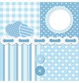 Blue scrapbook set vector