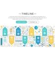 elegant thin flat line Timeline concept vector image